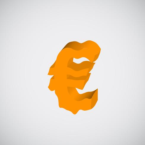 Melting orange character, vector