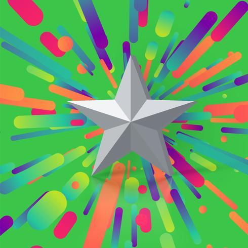 Bunte Abbildung mit einer Sternbewertung, vektorabbildung
