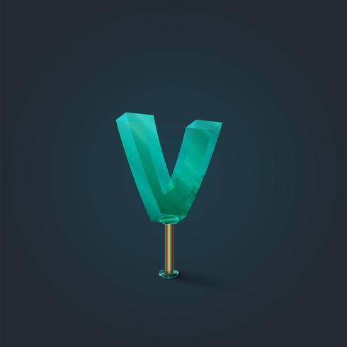 Karakter gemaakt door glas, vector