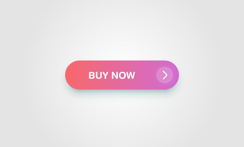 Botão brilhante e limpo colorido para sites e uso on-line, ilustração vetorial vetor