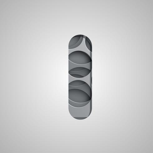 Carácter de 'agujero' en capas de un conjunto de fuentes, vector