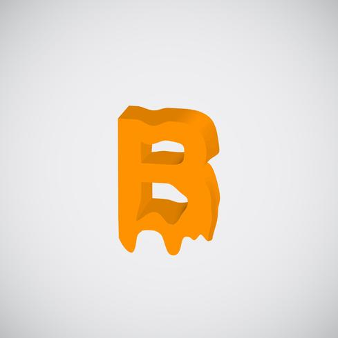 Melting orange character, vector