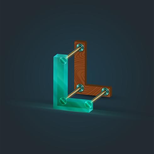 Charakter gemacht durch Glas und Holz, Vektor