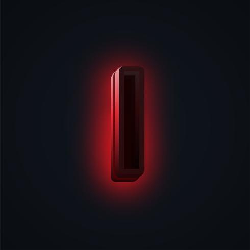 Rood 'CLUB' neonlichtkarakter van een lettertype, vector