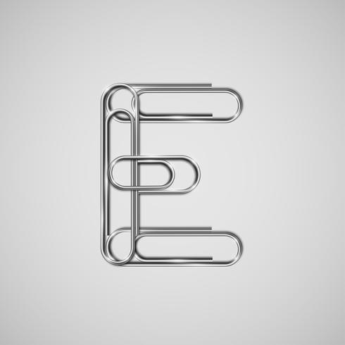 Gekoppelde paperclips vormen een karakter, vector