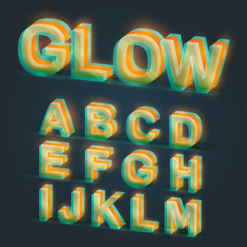 3d brillante tipografía, vector
