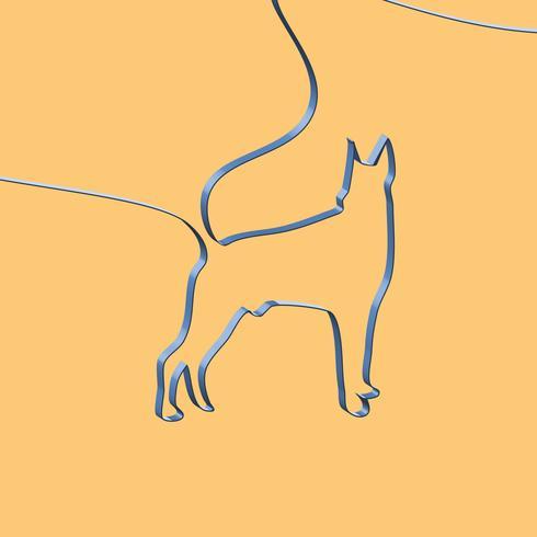 Realistisches Band formt ein Tier, Vektorillustration