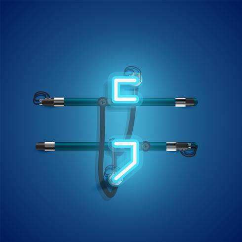 Carácter de neón realista con cables y consola, ilustración vectorial vector