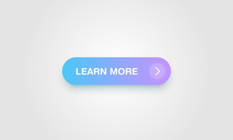 Bouton coloré brillant et propre pour les sites Web et l'utilisation en ligne, illustration vectorielle vecteur