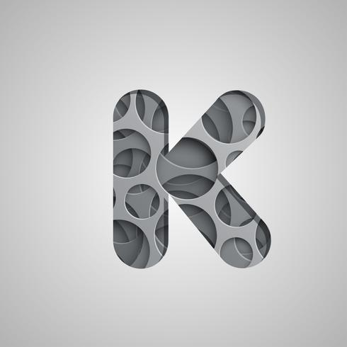 Caractere de 'buraco' em camadas de um conjunto de caracteres, vetor