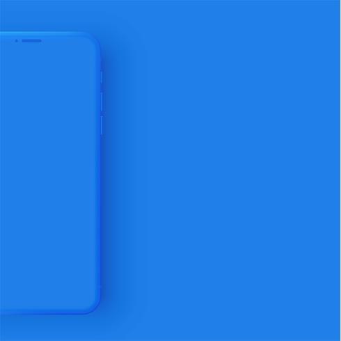Teléfono colorido mate realista, ilustración vectorial