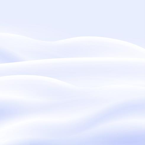 Snowy landscape, vector