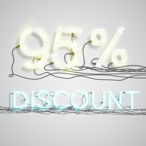 Percentage of discount, vector illustration