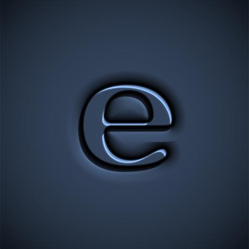 Gepresste Schriftzeichen, Vektor-Illustration