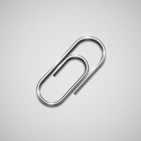 A realistic paperclip icon, vector
