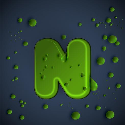 Fuente de limo verde, vector