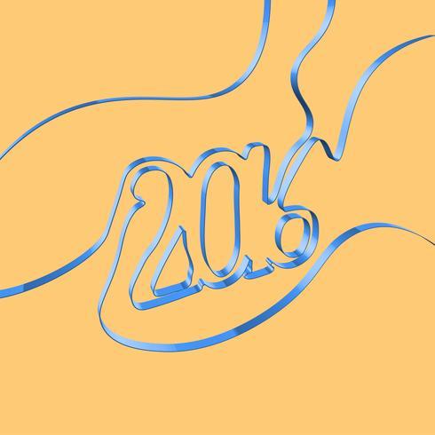 Ruban abstrait forme une année, illustration vectorielle