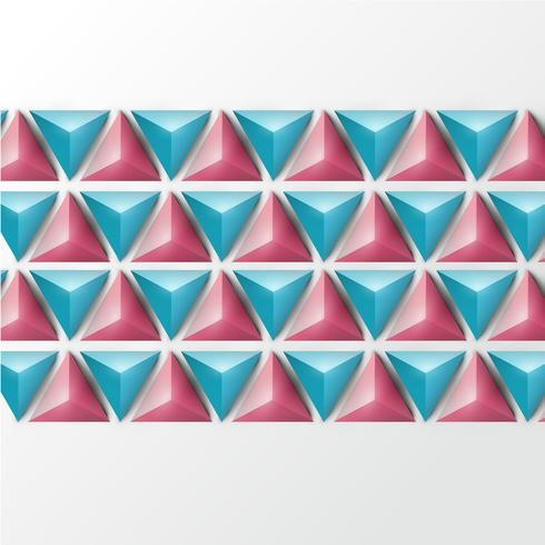Fondo realista triángulo 3D, ilustración vectorial