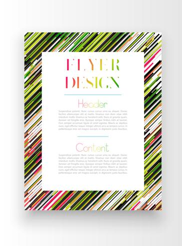 Modelo colorido / design de cartaz, vetor