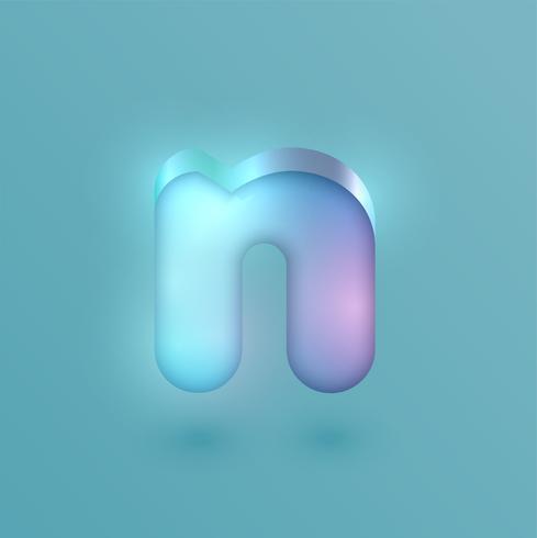 Carácter de neón realista 3D, vector
