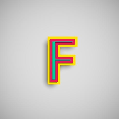 Bunter papercut Charakter von einem Satz, Vektor