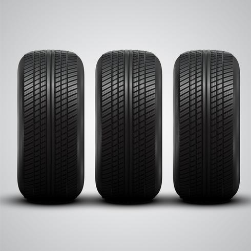 Realistic tires, vector illustration