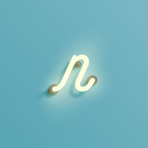 Personnage néon réaliste à partir d'une composition, vecteur