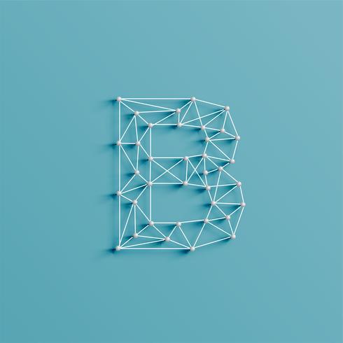 Ein Zeichen, gemacht durch Stifte und Linien, 3D und realistisch, Vektor