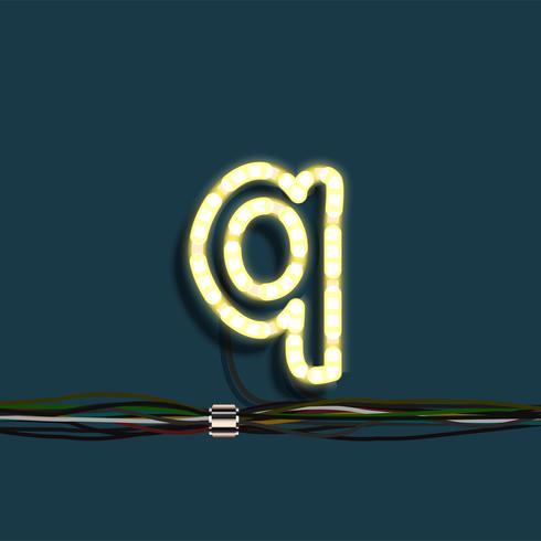 Carta de festão de néon, vetor