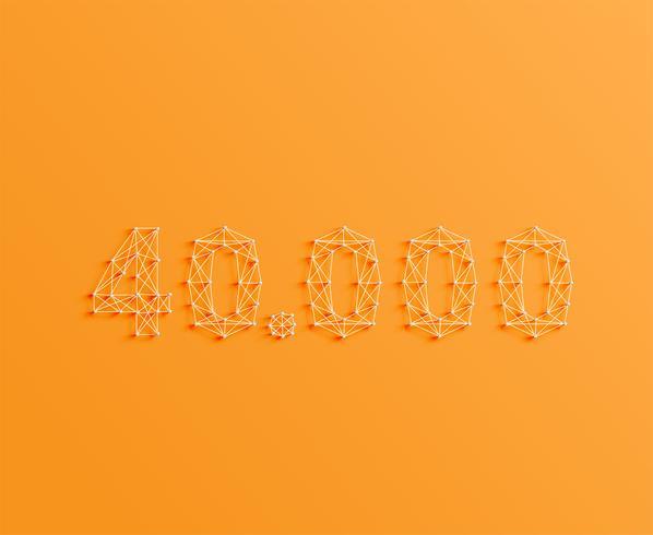 Ett nummer gjord av stift och linjer, 3D och realistisk, vektor