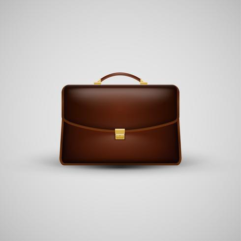 Realistic suitcase icon, vector