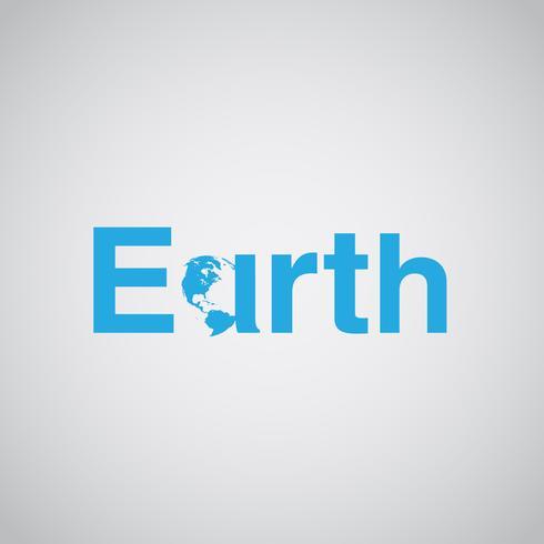 Le texte 'Terre' inclut la terre, illustration vectorielle