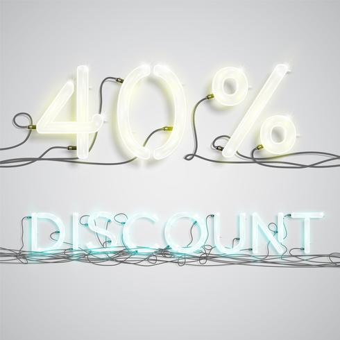 Percentage of discount, vector illustration