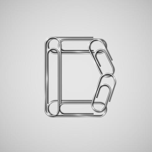 Paperclips enlazados formando un personaje, vector. vector