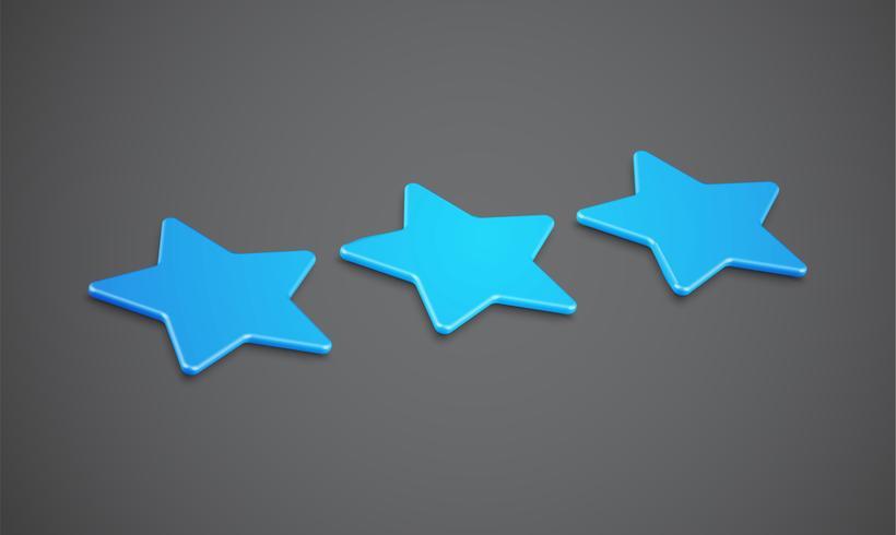 Clasificación 3D de estrellas o de fondo, ilustración vectorial vector