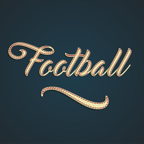 'Football' leather sign, vector illustration
