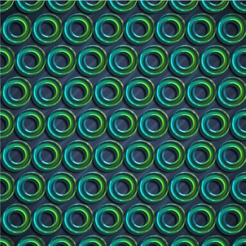Fondo verde colorido del extracto del círculo, ilustración del vector