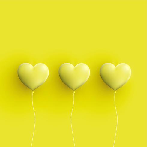 Pastel coloured 3D hearts, vector illustration