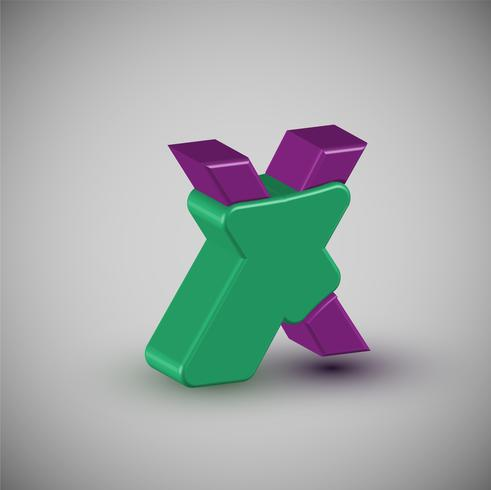 3D-färgstarka karaktär från en uppsättning vektor
