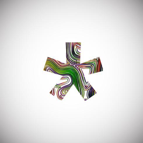 Personnage coloré d'une police de caractères, illustration vectorielle
