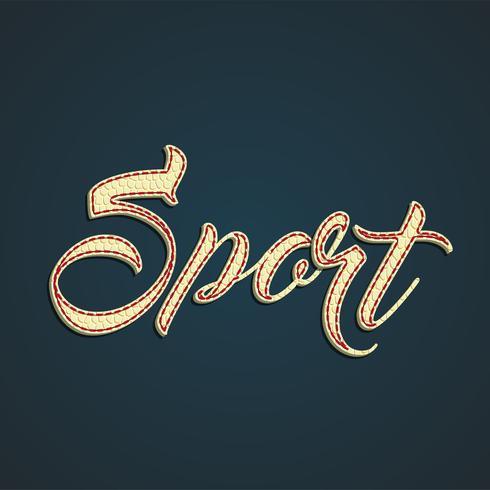 Segno di cuoio 'Sport', illustrazione vettoriale