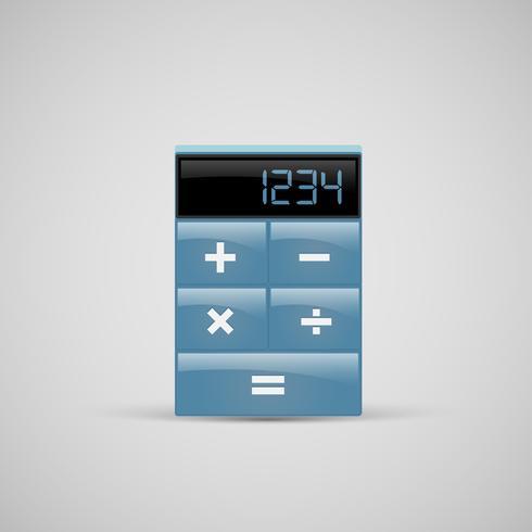 Une icône de la calculatrice réaliste, vector