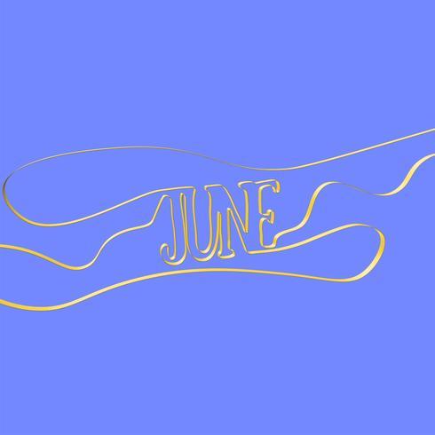 "Bandschrifttyp bildet ""Juni"", Vektorillustration"