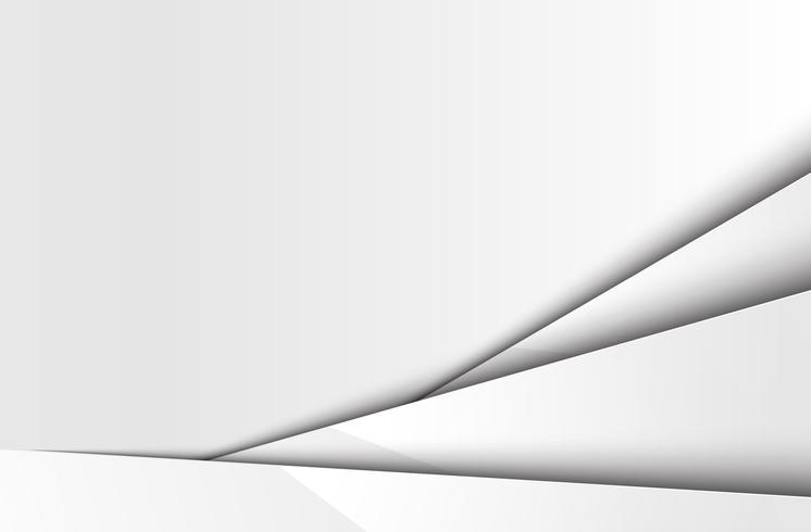 Fondo blanco abstracto en capas, vector