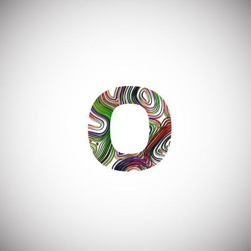 Carattere colorato da un carattere tipografico, illustrazione vettoriale