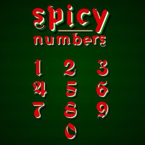 Modern 'Spicy fonte para qualquer uso, ilustração vetorial