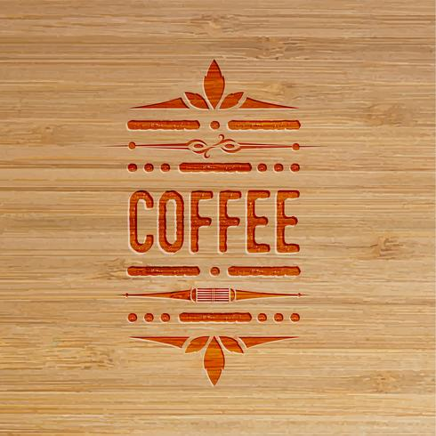 Kaffe snidade konstverk, vektor