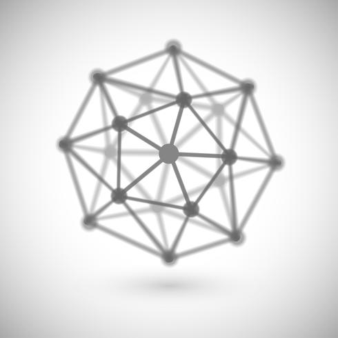 Molécula abstrata, vetor