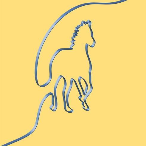 Cinta realista da forma a un animal, ilustración vectorial