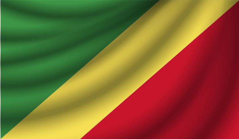 Bandera realista, ilustración vectorial vector